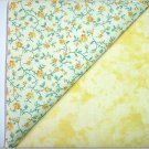 Floral n' Tie Die Yellow - Two FAT Quarters (2730)