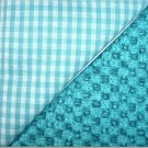 Turqoise Gingham n Print - Two FAT Quarters (2732)