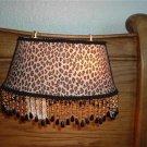 Leopard Print Headboard Victorian Lampshade