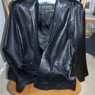 Size 10 * Ladies Soft Black Leather Jacket
