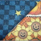 Halloween Print n Navy Blue w/Stars - Two FAT Quarters (2739)