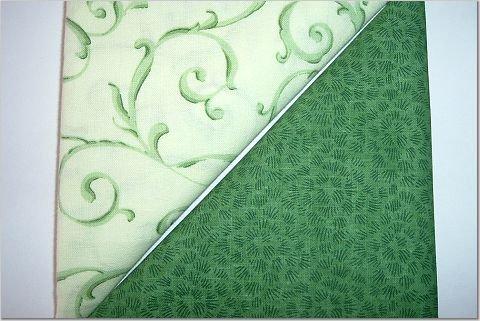 Mint Green Swirls n Forest GreenPrint - Two FAT Quarters (2741)