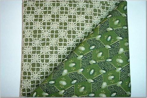Avocado Jewels n Matching Print - Two FAT Quarters (2743)