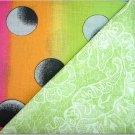 Lime Green n Neon Rainbow Print - Two FAT Quarters (2756)