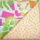 Neon Crazy n Orange Print  - Two FAT Quarters (2764)