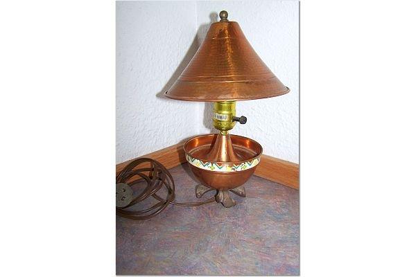 Vintage Copper Lamp