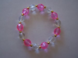 Pink n' Crystal Bracelet (MLJ-993)