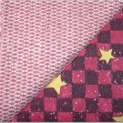 Country Red Gingham w/Stars n' Brick Print - TWO Fat Quarters (2789)