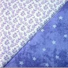 Purple Tied Eye w/Stars n' Purple Floral Print - TWO Fat Quarters (2791)