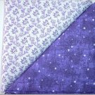 Purple Dots n' Purple Floral Print - TWO Fat Quarters (2795)