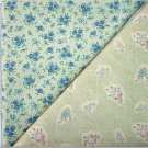 Country Blue Floral n' Matching Floral Print - TWO Fat Quarters (2802)