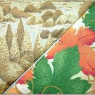 Trees n' Autumn Leaves Fall Print - TWO Fat Quarters (2804)