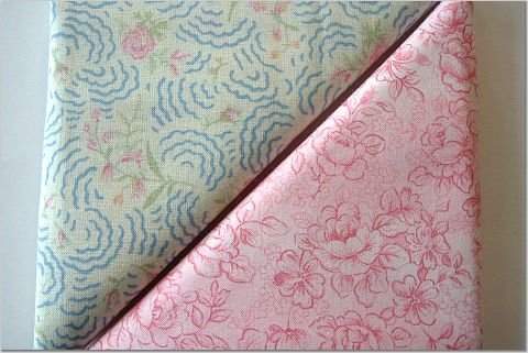 Rosebuds n' Pink Floral Print - TWO Fat Quarters (2805)