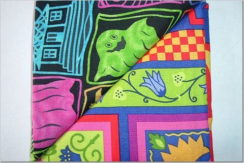 Neon Halloween n' Colorful Floral Print - TWO Fat Quarters (2850)