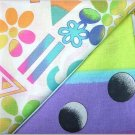 Neon Crazy n' Rainbow Print  - TWO Fat Quarters (2853)