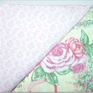 Cabbage Rose Cottage Print n' Baby Pink Floral Print- TWO Fat Quarters (2856)