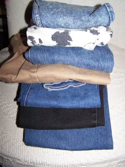 7 Pairs of Jeans - Some Guess Jeans Even!