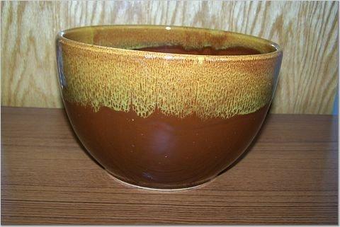Antique Orchard Ware - Brown Mixing Bowl - WATT 130