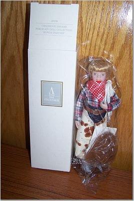 Childhood Dreams Porcelain Doll - Howdy Partner - AVON