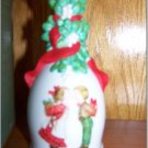 "Porcelain Christmas Bell ""Under The Mistletoe"" 1989 AVON"