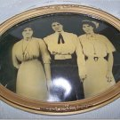 Framed TRIPLETS * Vintage Oval Glass