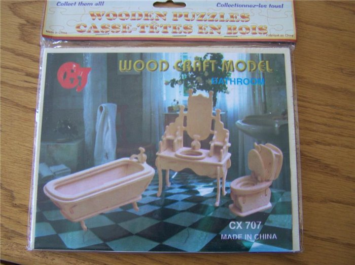 Dollhouse Furniture - Puzzle Kits
