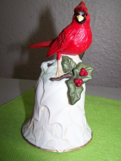 Red Cardinal BELL * Bright and Colorful * AVON