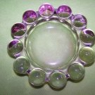 Heavy Pale Amethyst Lavendar Purple Awesome Ashtray Dish