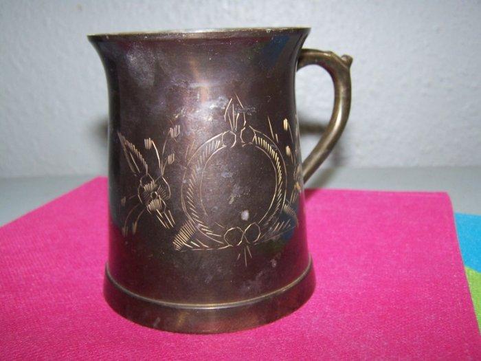 Solid Brass Etched Mug