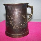 Solid Brass Etched Mug