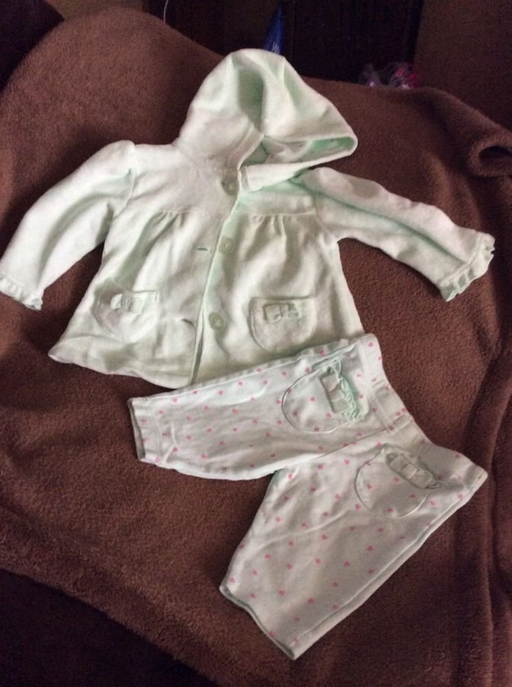 Garanimals 0-3 Months Jacket Top W/ Hood And Pants Pre-owned