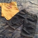 Small Wonder/ Faded Glory 0- 3 Months Short Sleeve Pant Set Pre- Owned