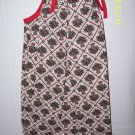 Handmade Christmas Holly Baskets PILLOWCASE Dress NWOT Fits 3-6 yr olds