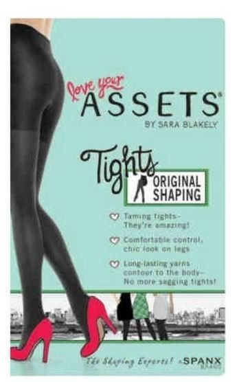ASSETS  SHAPING Reversible PANTY HOSE  SIZE 5 BLACK/Gray NEW