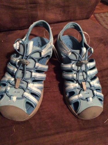 Croft & Barrow Sandals Blue Shoes Washable Footwear Ladies Girls US/4 NWOT