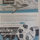 Bendix Products / Convair XF-92 delta 1950s ad