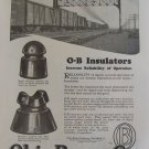 1920s Ohio Brass Company O-B Insulators ad