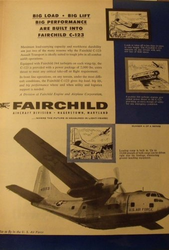 1950s Fairchild Aircraft Division / C-123 Provider ad