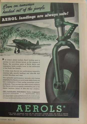 1943 WWII Aerols Bell P-39 Airacobra ad