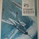 1950s Stewart-Warner Electronics / F7U Cutlass jet fighter ad
