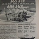 1950s Curtiss-Wright J65 turbojet  / Douglas A4D A-4 Skyhawk speed record ad