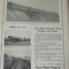 1926 Western Wheeled Scraper / Railroad dump car ad