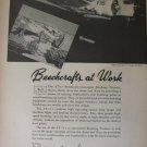 1943 WW2 Beech Aircraft Corporation / AT-11 Kansan trainer ad