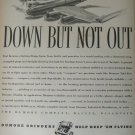 1940s WWII Dumore Precision Grinders / Boeing B-17 Flying Fortress ad
