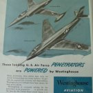 Westinghouse jet engines / McDonnell XF-88 Voodoo / Lockheed XF-90 ad