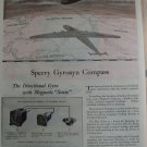 1940s WWII Sperry Gyroscopes / B-24 Liberator bomber ad
