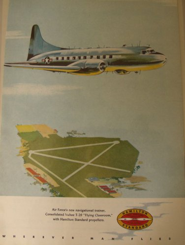 Hamilton Standard / Convair T-29 Flying Classroom ad