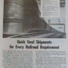 Ryerson Steel 1950s diesel locomotive ad