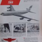 Phillips 66 Aviation Division TWA Boeing 707 jetliner ad