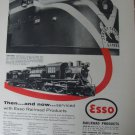 1955 Esso / 4-4-2 Camelback / Jersey Central Baldwin DR-6-4-2000 diesel ad